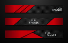 Vector Full Banners Set. Black...