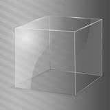 Glass Cube. Vector illustration.
