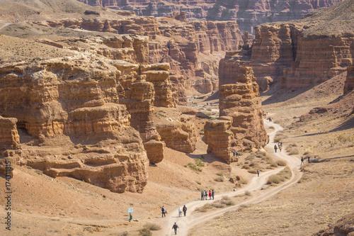 Tuinposter Canyon Charyn canyon in Almaty region of Kazakhstan.Beautiful mountain landscape.