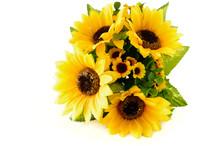 Closeup Of A Sunflower Bouquet...
