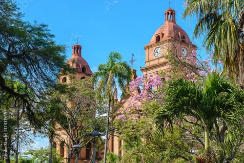 Cathedral of San Lorenzo at 24th September square, Santa Cruz de la Sierra, Boli Wallpaper Mural