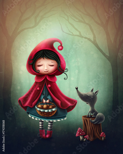Little red riding hood Tablou Canvas