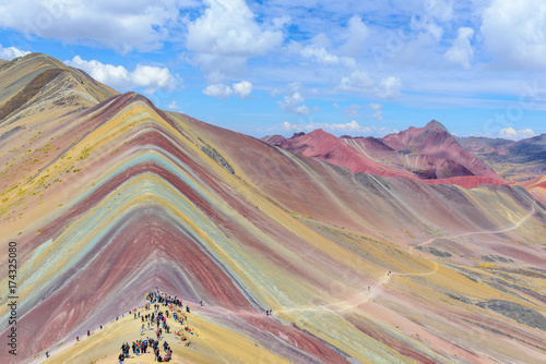 Poster Vinicunca, also known as Rainbow Mountain, near Cusco, Peru