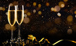canvas print picture - New year celebration with champagne