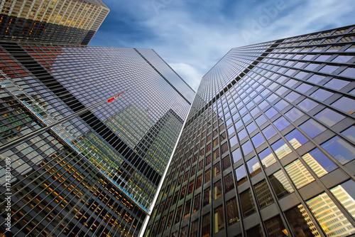 Fototapeta Toronto linia horyzontu w pieniężnym okręgu