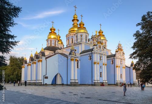 Foto op Plexiglas Kiev Exterior of St Michael's Golden Domed Cathedral in Kiev, Ukraine