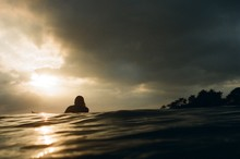 Surfer And Sunset