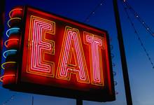 Eat Sign On Rural Highway USA