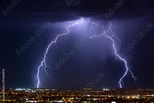 Zdjęcie XXL Burza z piorunami