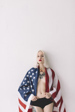 Portrait Of Woman With America...