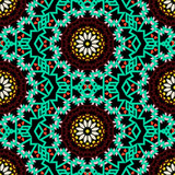 Bohemian pattern with big abstract flowers - 174374432