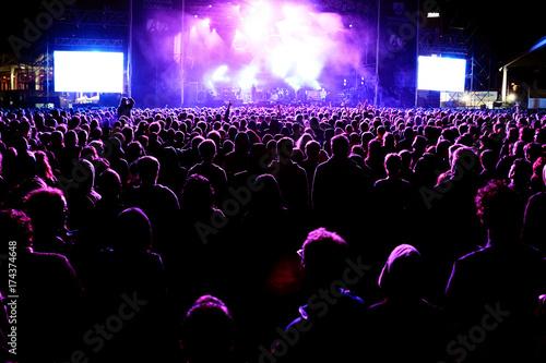 Plakat tłum na koncercie
