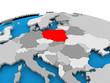 Poland on political globe