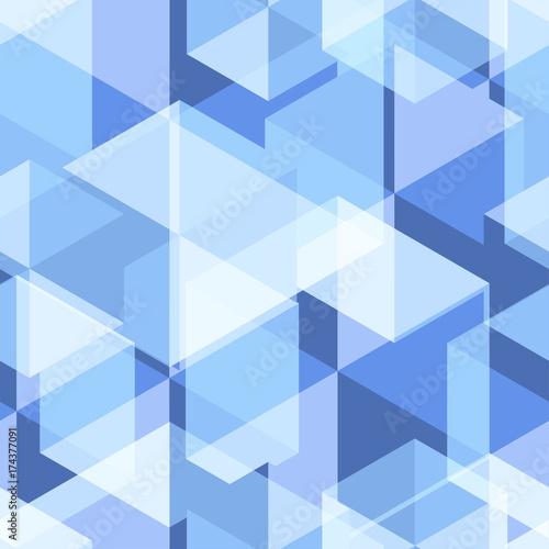 Zdjęcie XXL Jasnoniebieski Geometria abstrakcyjny wzór bez szwu