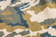 Military army camouflage pants texture and back pocket, abstract background design