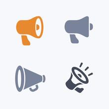 Bullhorns - Carbon Icons. A Se...