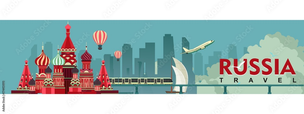 Fototapety, obrazy: Travel Russia Banner