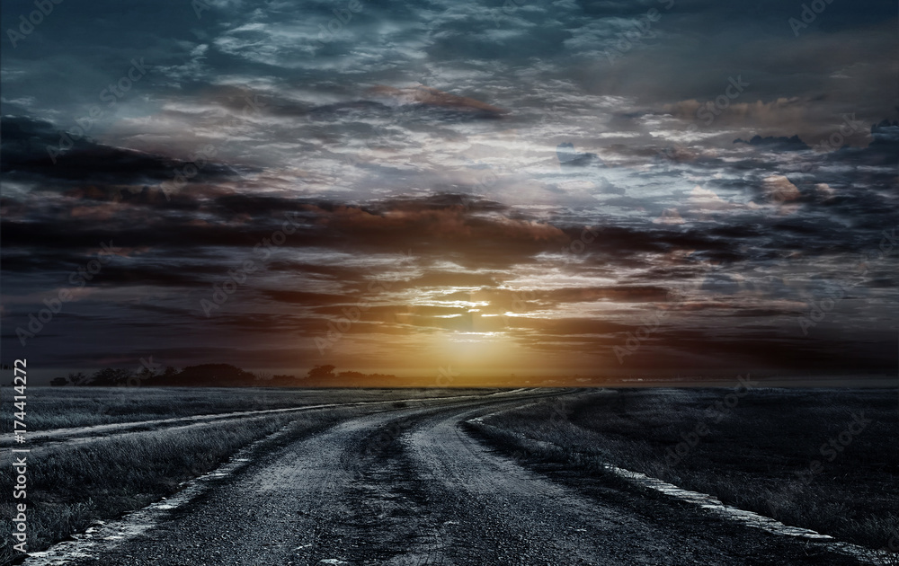 Fototapety, obrazy: Road to the sky