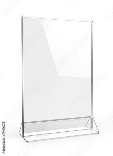 Clear Plastic And Acrylic Table Talkers Promotional Upright Menu - Plastic table tent holders