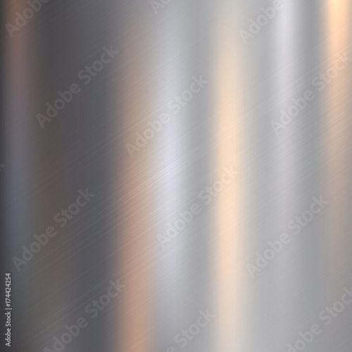 Poster de jardin Metal Metal, stainless steel texture background with reflection