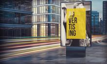 Advertising Billboard In City ...