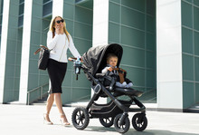 Business Woman With Baby Pram ...