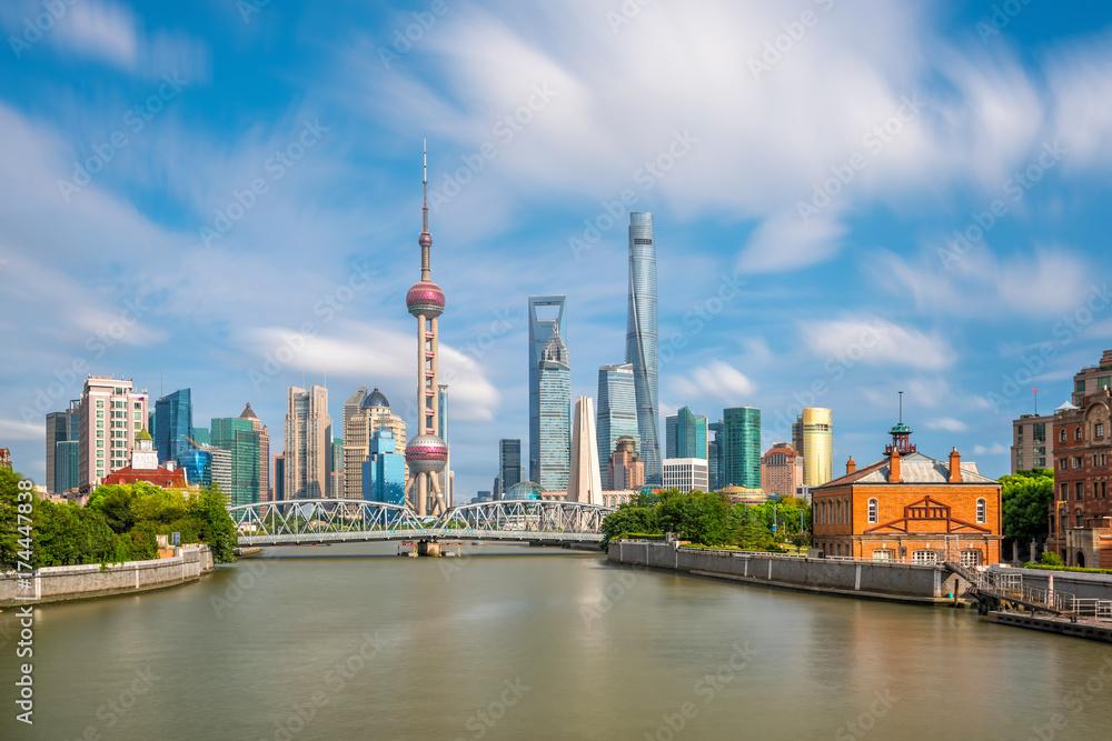 Photo  View of downtown Shanghai skyline