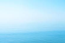Sea Blue Surface, Horizon, Calm. Background.  Azov. Ukraine.
