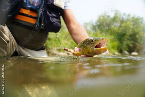 wedkarz-wyciagajacy-reka-troc-z-rzeki