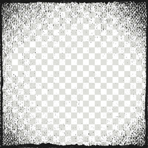 Vector illustration. Frame for image. Grunge, dirt effect Wall mural