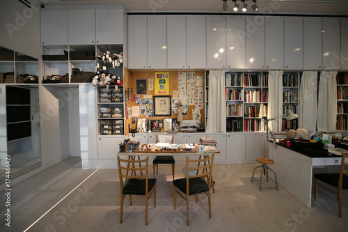 2ba46035168 The Studio where all the collections where designed are seen at the Yves  Saint Laurent Museum
