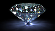 Perfect Diamond Isolated On Wh...
