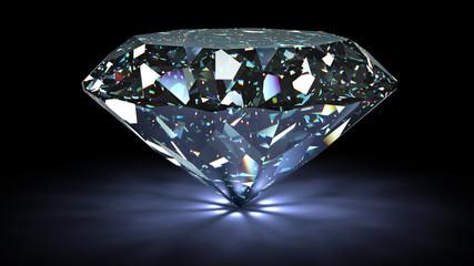 idealny diament na białym tle