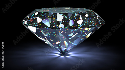 Photographie perfect diamond isolated on white background