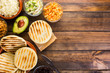 Leinwanddruck Bild - Venezuelan typical food, Arepas