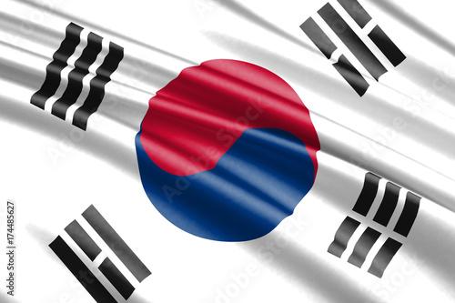waving flag south korea Poster