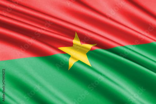 Plakat machać flaga Burkina Faso