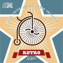 Retro Bicycle Label. Vintage B...