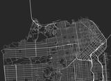Vector black map of San Francisco - 174495494