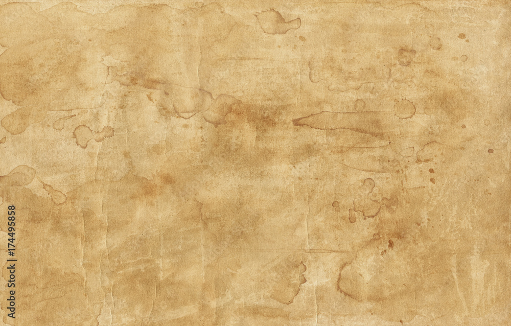 Fototapety, obrazy: Old brown paper texture with stains