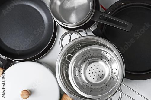 Set of kitchen utensils in drawer