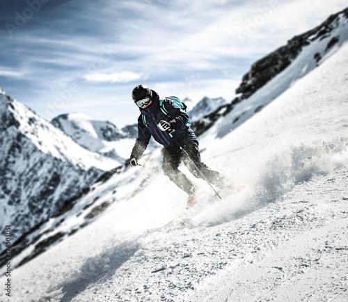 Foto op Canvas Alpinisme winter skier