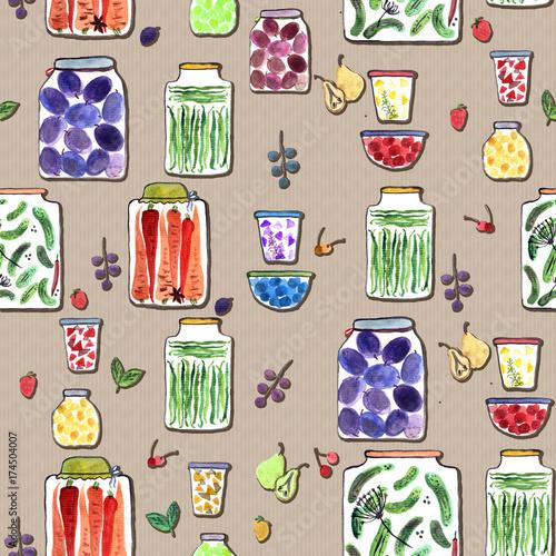 bezszwowy-wzor-z-akwareli-ilustracja-z-roznymi-slojami-z-konserwowac-owocowymi