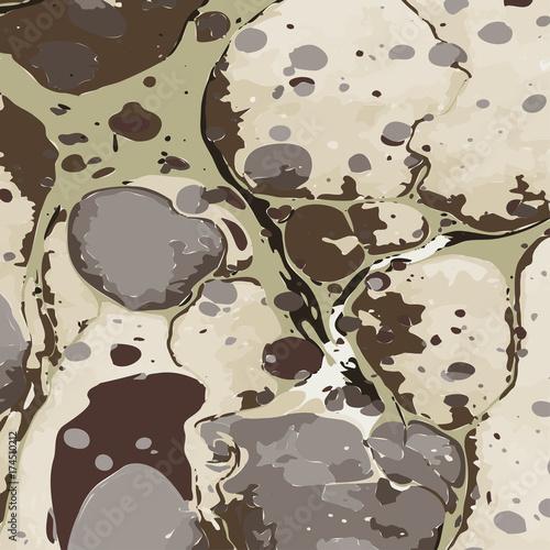 Pinturas sobre lienzo  Military camouflage liquid ebru background.