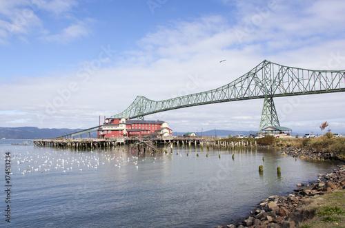 Oregon and Washington State Bridge Canvas Print
