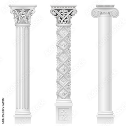 Set of classical columns Fototapete