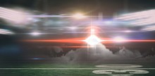 Digital Image Of American Football Playing Field