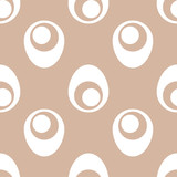 Geometric brown and white seamless pattern for fabrics - 174531458