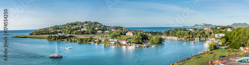 Foto op Aluminium Cyprus View of Castries St Lucia marina and central market