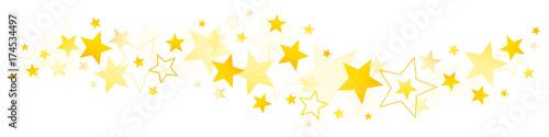 Obraz Golden Stars Border - fototapety do salonu